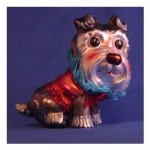Christmas dog ornament