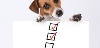 Dog travel check list