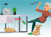 Avoiding-tripping-over-your-dog