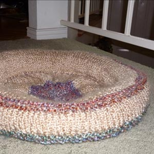 Knit a dog bed — or give it to a dog in a shelter